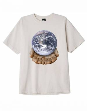 Obey Our planet is in your hands heavyweight box fit t-shirt - sago obey T-shirt 50,00€