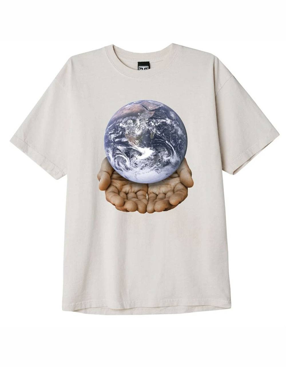 Obey Our planet is in your hands heavyweight box fit t-shirt - sago obey T-shirt 40,98€