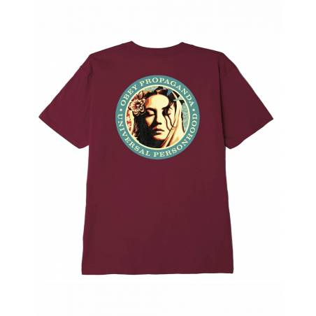 Obey Universal personhood classic t-shirt - burgundy obey T-shirt 37,70€