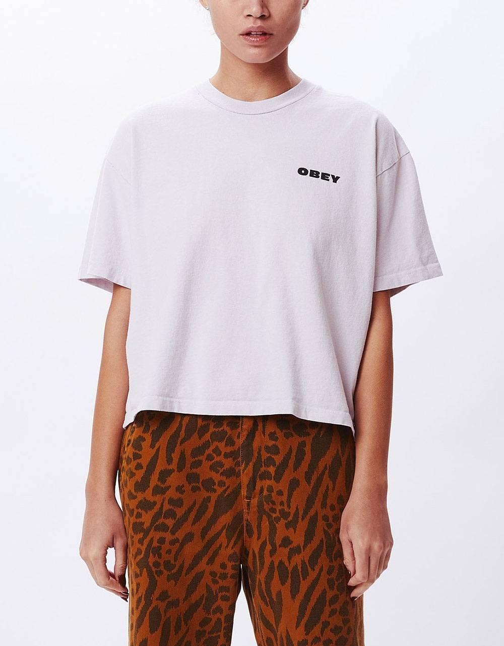 Obey Woman demolition crew custom crop tee - lilac hint obey T-shirt 36,89€