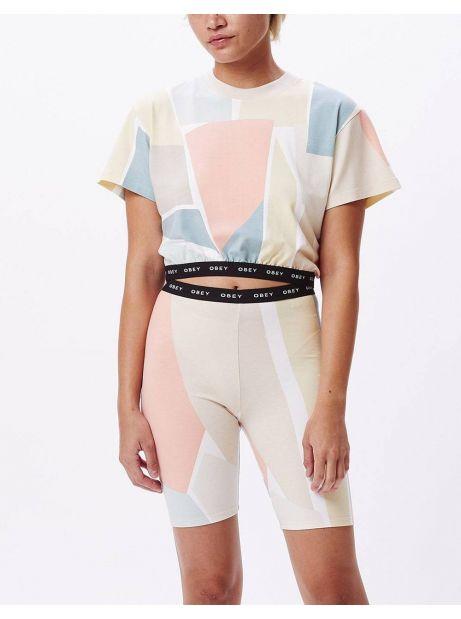 Obey Woman Glen aspen shorts - peach multi obey Shorts 65,00€