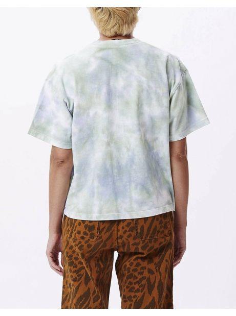 Obey Woman new tie dye custom crop tee - purple half spiral obey T-shirt 56,00€