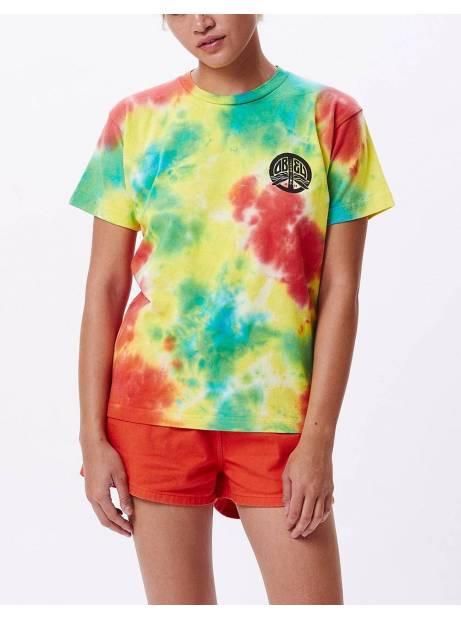 Obey Woman peace dragon custom box tee - tie dye dusky obey T-shirt 55,00€