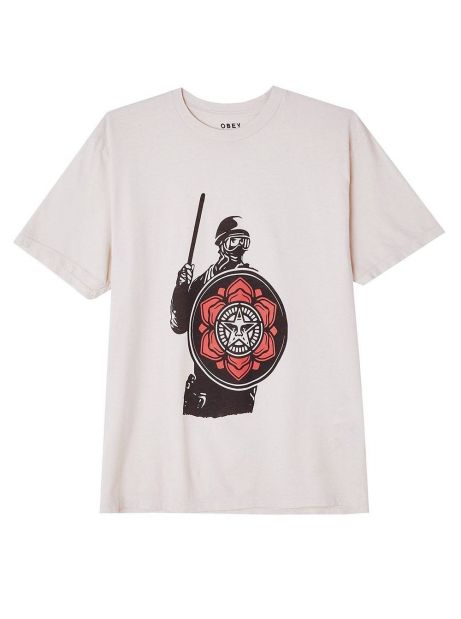 Obey Woman riot cop peace shield organic tee - white obey T-shirt 50,00€