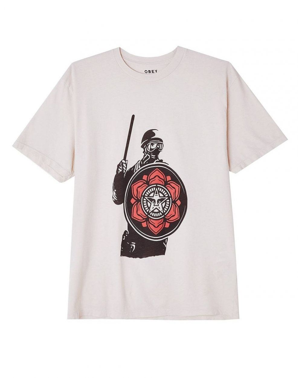 Obey Woman riot cop peace shield organic tee - white obey T-shirt 45,08€