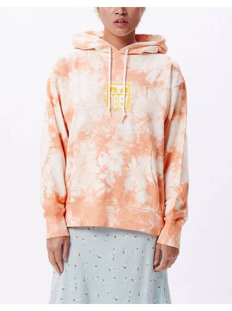 Obey Woman warden hood fleece - peach multi obey Sweater 106,00 €