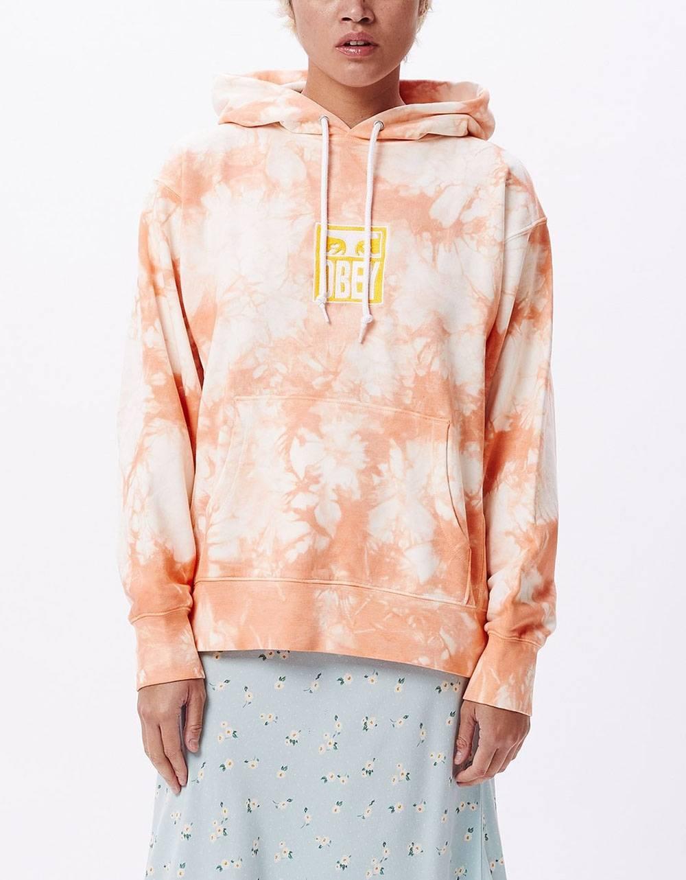 Obey Woman warden hood fleece - peach multi obey Sweater 86,89€