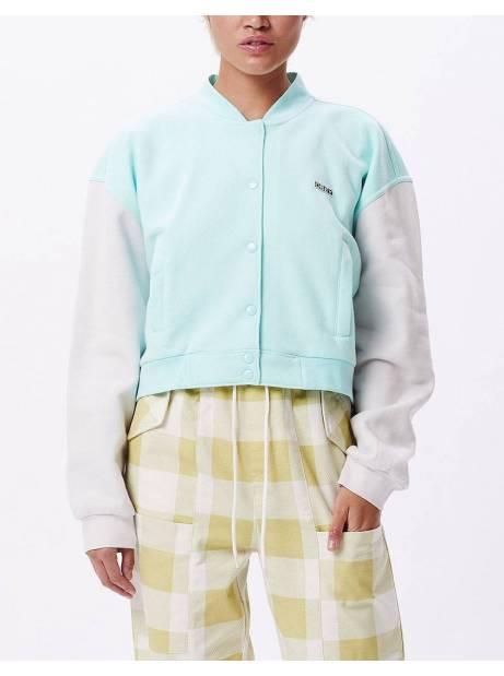 Obey Woman wrigley fleece jacket - light blue / iris obey Jacket 105,74€