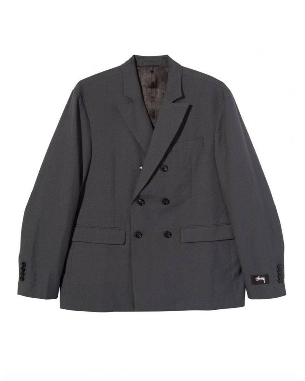Stussy Double breasted blazer jacket - grey Stussy Jacket 209,02€