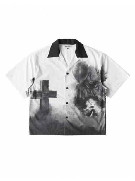 Salute HK Cross box fit shirt - white Salute HK Shirt 103,28€