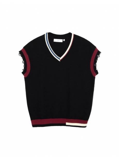 Salute HK Damage oversize vest - black Salute HK Knitwear 89,34€
