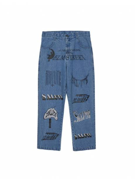Salute HK Logo printed jeans - light washed blue Salute HK Jeans 186,00 €