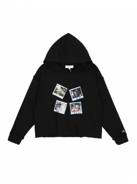 Salute HK Polaroid box fit cropped hoodie - black Salute HK Sweater 139,00€