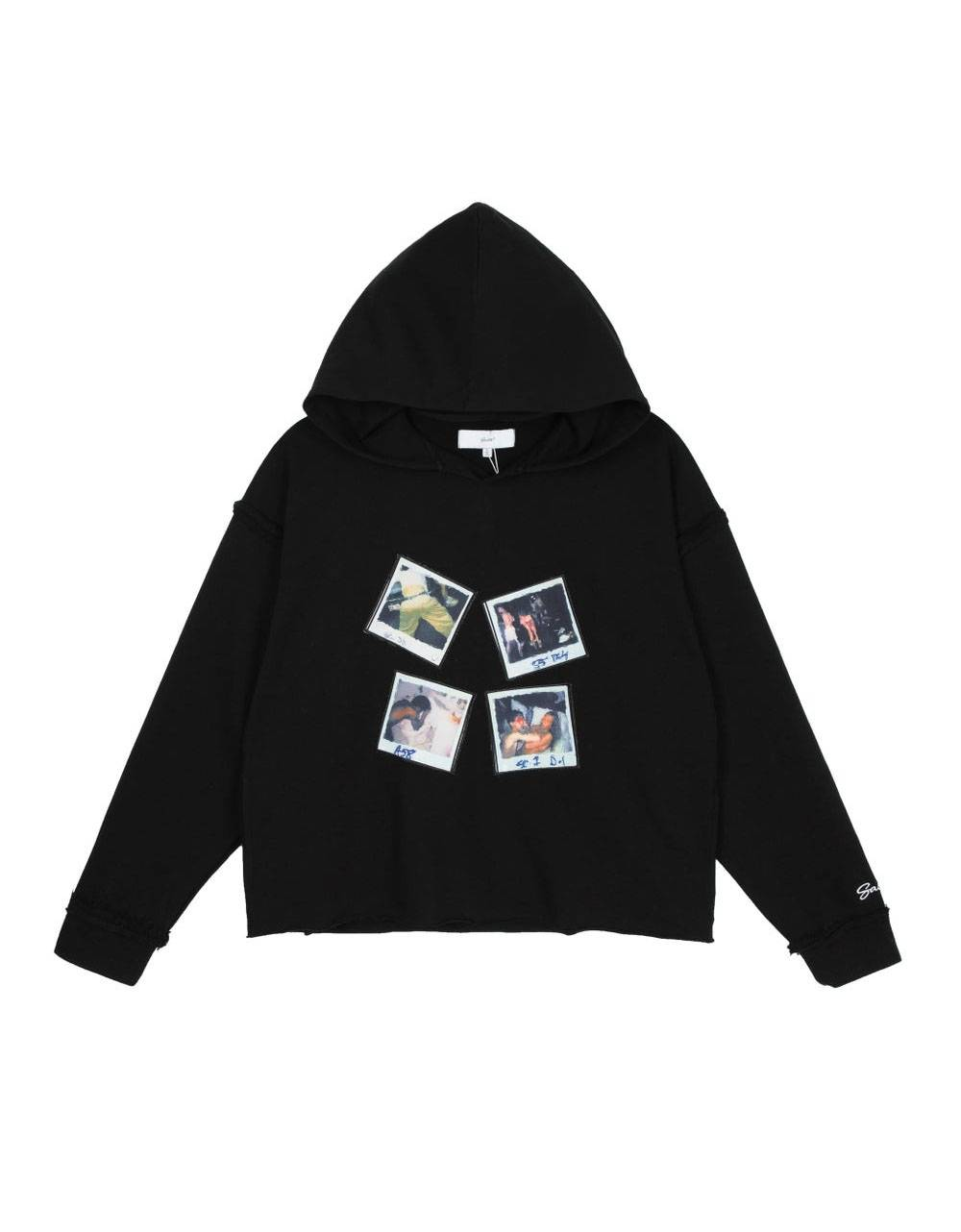 Salute HK Polaroid box fit cropped hoodie - black Salute HK Sweater 140,00€