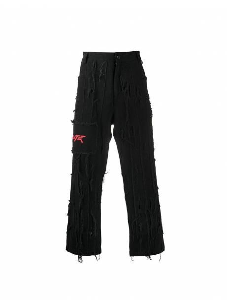 Salute HK Washed Damage denim pants - black Salute HK Jeans 199,00€