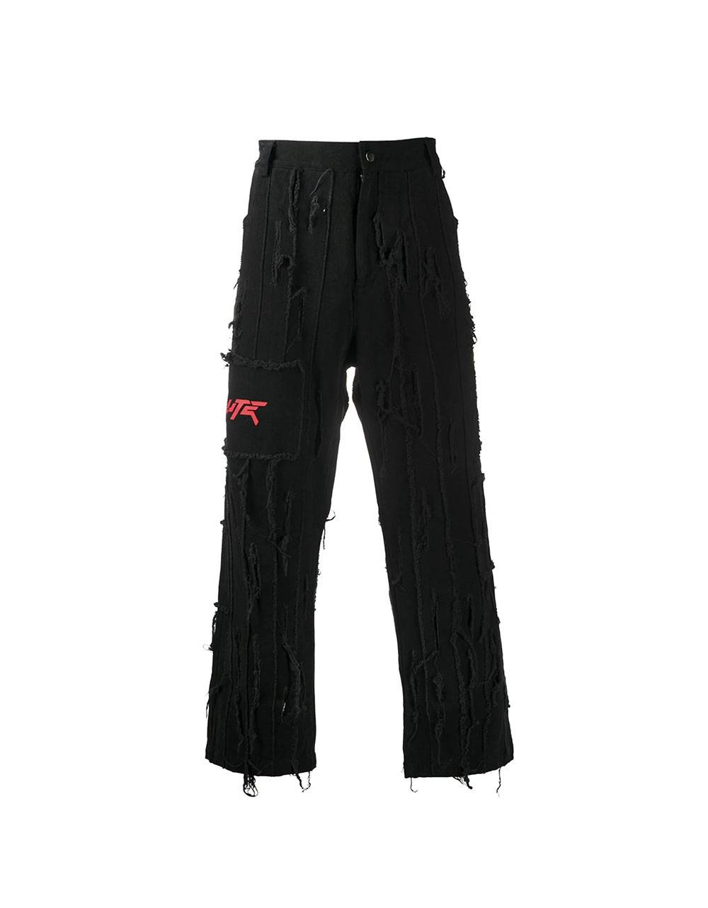 Salute HK Washed Damage denim pants - black Salute HK Jeans 163,11€