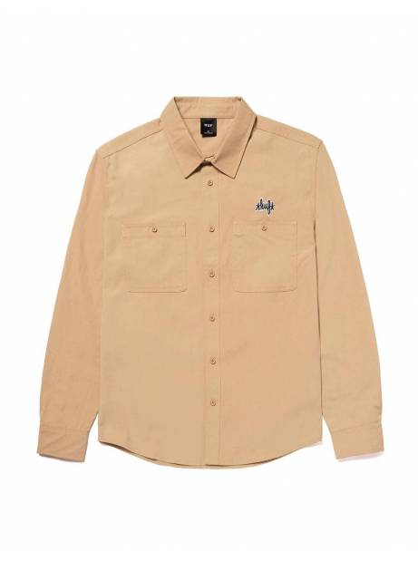Huf Mechanical l/s shirt - khaki Huf Shirt 122,00 €