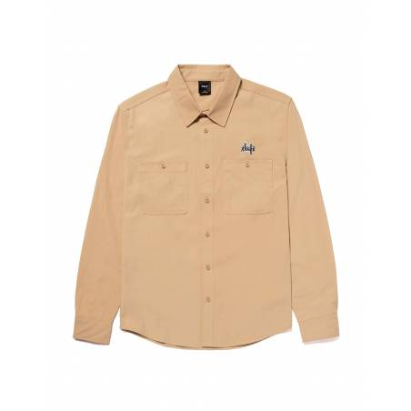 Huf Mechanical l/s shirt - khaki Huf Shirt 100,00€