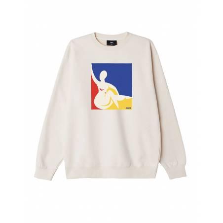 Obey Julia premium box fit crewneck fleece - sago obey Sweater 81,97€