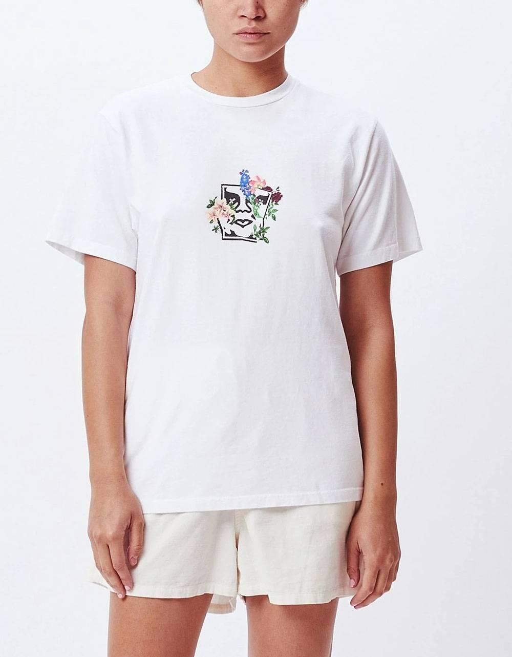 Obey Woman Flower burst choice box tee - white obey T-shirt 45,00€
