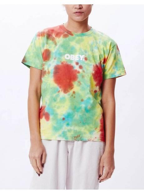 Obey Woman bold custom box tie dye tee - dusky tie dye obey T-shirt 55,00€