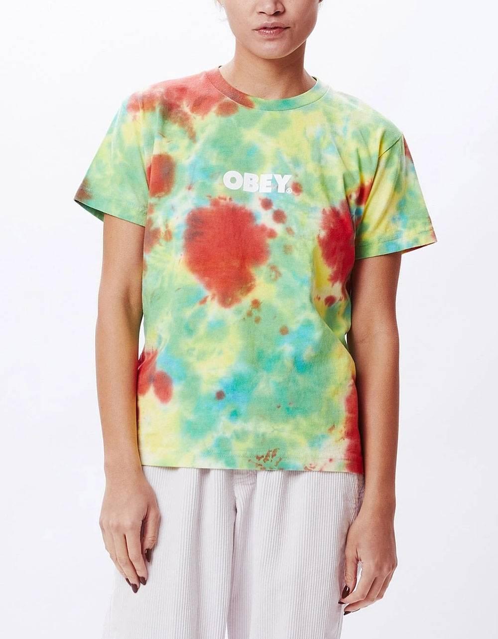 Obey Woman bold custom box tie dye tee - dusky tie dye obey T-shirt 45,08€