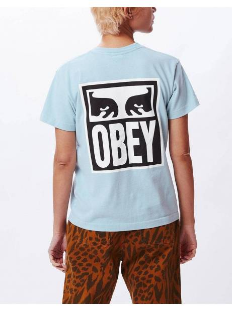 Obey Woman eyes custom box tee - mineral obey T-shirt 45,00€