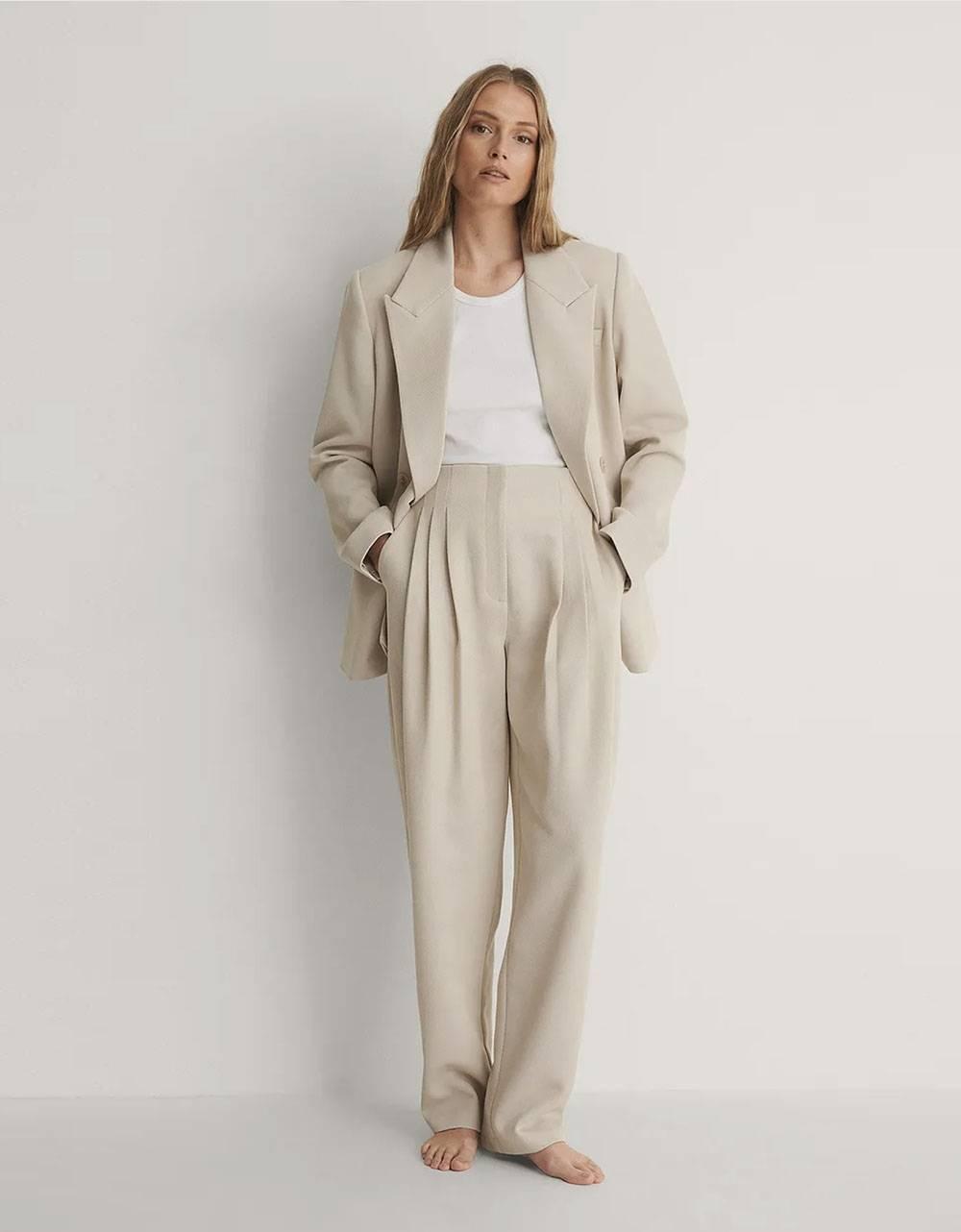 NA-KD darted twill pants - sand NA-KD Pants 65,57€