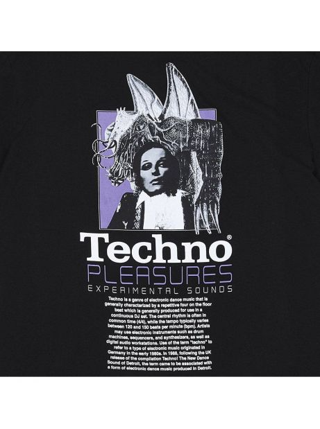 Pleasures Techno t-shirt - black Pleasures T-shirt 45,90€