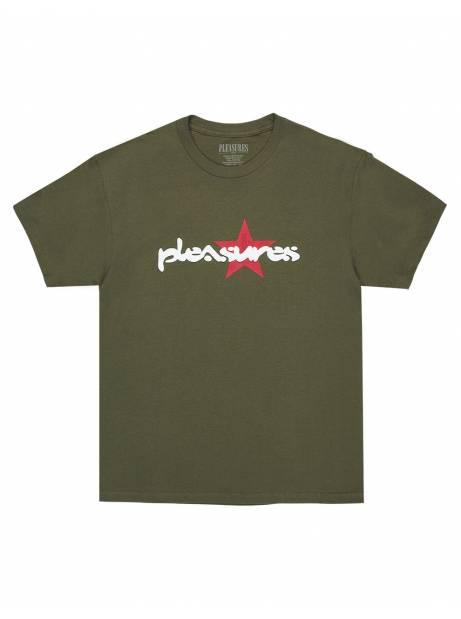 Pleasures Vibration t-shirt - olive Pleasures T-shirt 48,36€