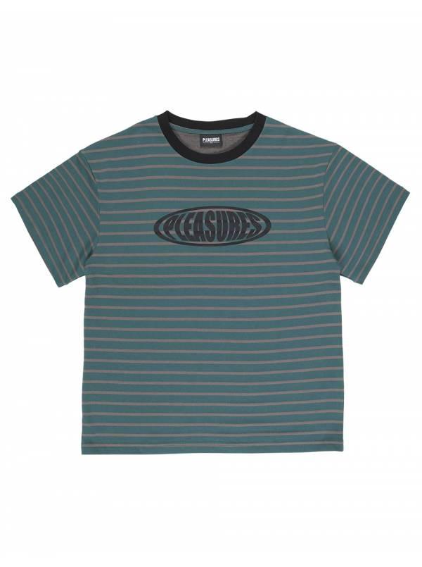 Pleasures Sports striped heavy t-shirt - green Pleasures T-shirt 61,48€