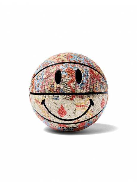 ChinaTown Market Smiley patchwork rug basketball - multi all over Chinatown Market ACCESSORIES 100,00€