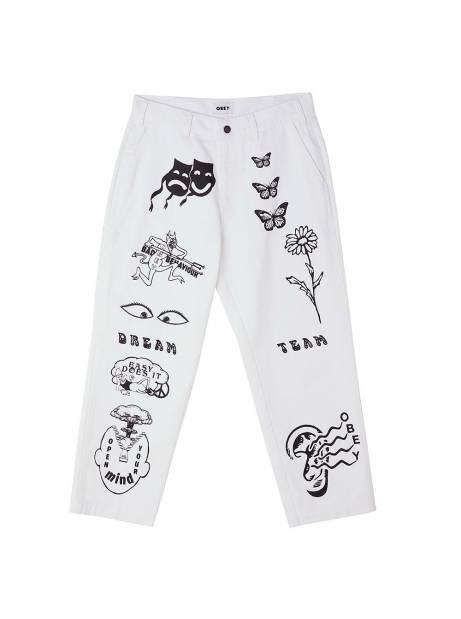 Obey Hardwork printed carpenter pants - white obey Pant 97,54€