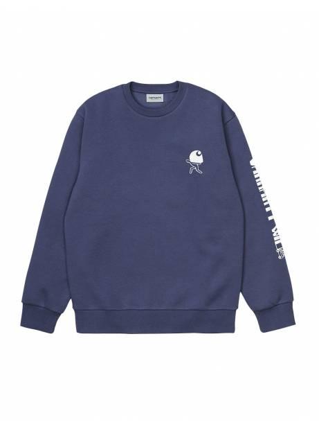 Carhartt Wip Removals sweatshirt - Cold Viola/White CARHARTT WIP Sweater 96,00€