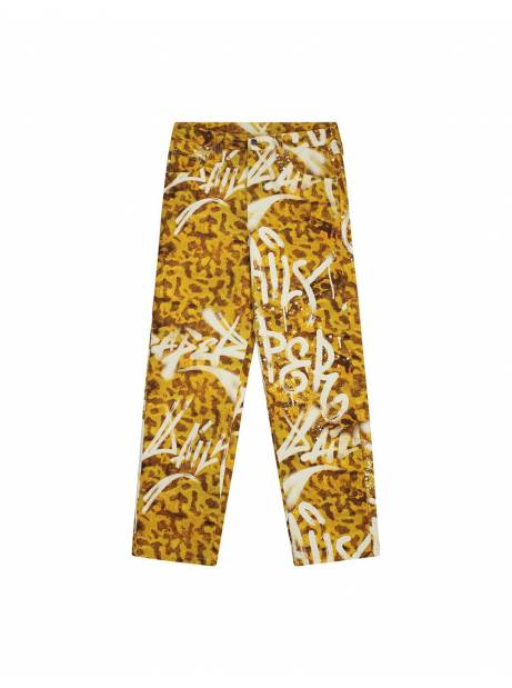 Daily Paper Liddy pants - yellow graffiti frog DAILY PAPER Pant 118,85€