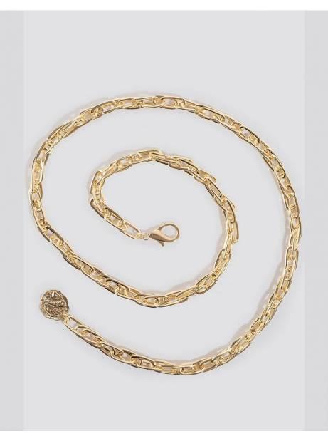NA-KD slim coin pendant chain belt - gold NA-KD ACCESSORIES 35,00€