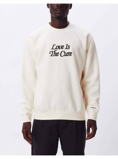 Obey Love is the cure specialty crewneck fleece - umbleached obey Sweater 96,00€