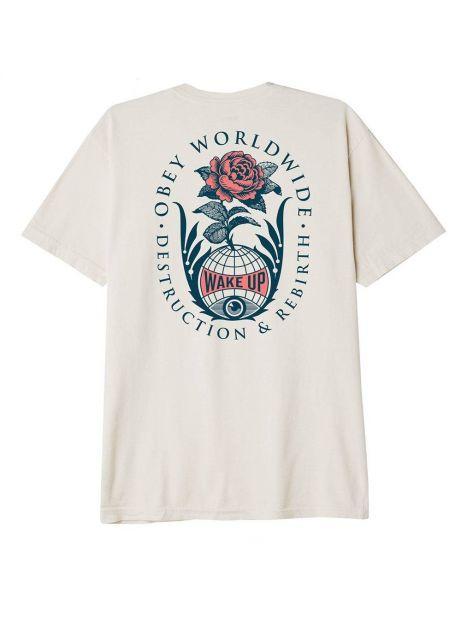 Obey Destruction & rebirth sustainable t-shirt - cream obey T-shirt 45,08€