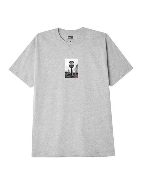 Obey Water tower photo classic t-shirt - heather grey obey T-shirt 36,89€