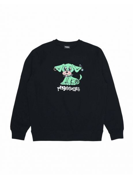 Pleasures Ruff premium crewneck sweater - black Pleasures Sweater 97,54€