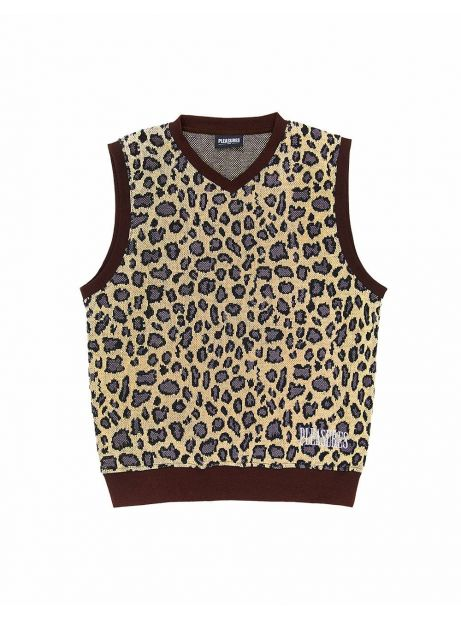 Pleasures Survival sweater vest - tan Pleasures Knitwear 81,15€
