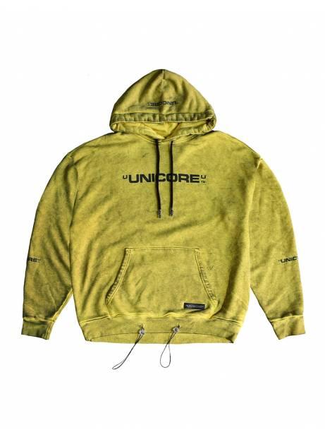 Unicore Dirty logo hoodie - yellow Unicore Sweater 113,93€