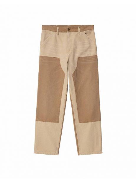Carhartt Wip Double knee aged canvas Pant - dustybrown/hamiltonbrown CARHARTT WIP Jeans 126,00€