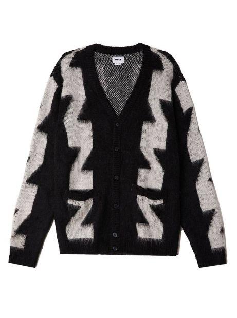 Obey Dexter cardigan - black multi obey Knitwear 89,34€