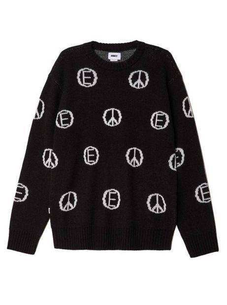 Obey Discharge knitwear - black multi obey Knitwear 89,34€