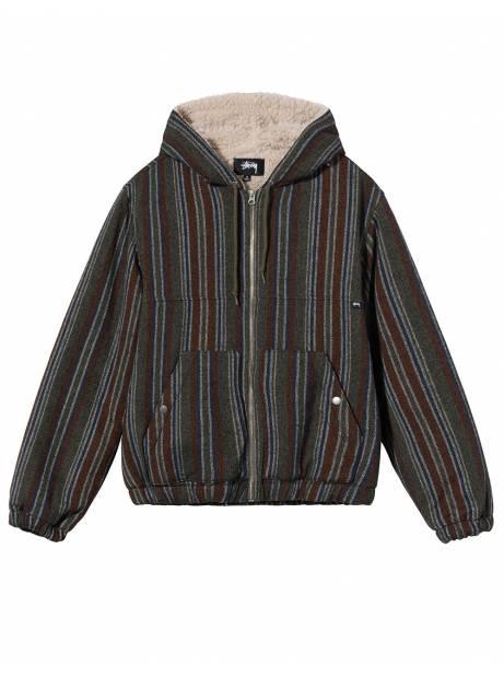 Stussy Wool striped work jacket - olive Stussy Jacket 179,51€