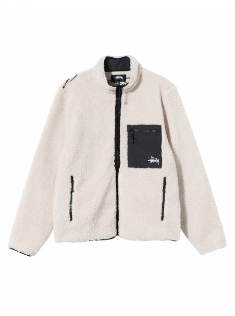 Stussy Venus jacquard sherpa jacket - natural Stussy Jacket 180,00€