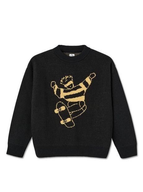 Polar Skate Co. Skate Dude Knit Sweater - black POLAR Knitwear 140,00€