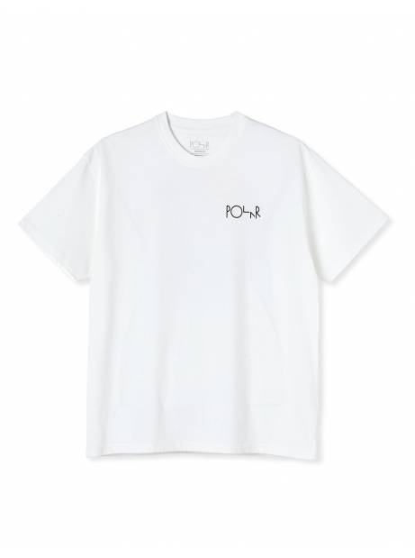 Polar Skate Co. Facescape Fill Logo Tee - white POLAR T-shirt 40,16€