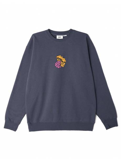 Obey All in box fit premium crewneck sweater - french navy obey Sweater 78,69€